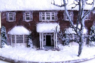 A miniature replica of the house which was used as the main setting for the film.