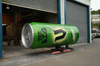The can outside our workshops.