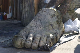 A monumental foot.